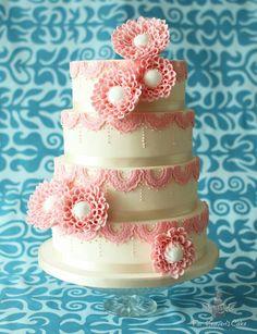 Vintage Honeycomb Dahlia's Heavens, Honeycomb, Dahlia, Cake, Desserts, Vintage, Food, Pies, Pastel