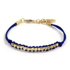 15 Faceted Beads Intertwined Leather Bracelet