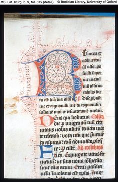 Images of manuscripts, rare books, maps, archives and ephemera from the Bodleian Libraries and Oxford college libraries Oxford College, College Library, Medieval Manuscript, Illuminated Manuscript, Decorated Letters, Initials, Puzzle, Calligraphy, Utrecht