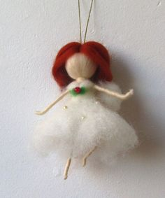 Christmas ornaments White Christmas fairy by theEnchantedWool
