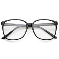 - Description - Measurements - Shipping - Add a sophisticated touch to your look with these square clear lens glasses. Exquisitely designed with a thin frame and high sitting temples, these oversize s