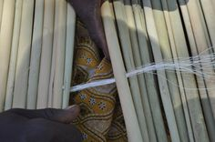 Two cultures combine: local Kenyan fishermen earn money by making mats out of…