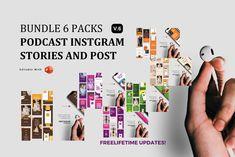 Updates! Bundle 6 Packs Podcast ig Stories and Post Template Instagram Mockup, Instagram Design, Instagram Story, Instagram Templates, Company Presentation, Social Media Design, Editing Pictures, Ig Story, Design Bundles