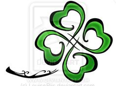 clover tattoo design drawings | Tribal Four-leafed clover by ~LouiseRiis on deviantART
