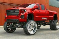 jacked up trucks and cars Dually Trucks, Lifted Cars, Lifted Chevy Trucks, Gm Trucks, Diesel Trucks, Cool Trucks, Chevy Duramax, Dodge Cummins, 6x6 Truck