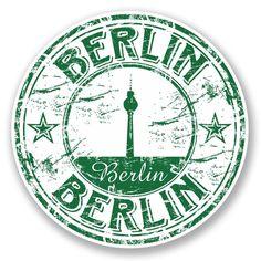 2 x Berlin Germany Vinyl Sticker Laptop Travel Luggage Car 5763 Badges Badges Berlin Car Germany Laptop Luggage Sticker Travel Vinyl Luggage Stickers, Laptop Stickers, Travel Stamp, Passport Stamps, Tumblr Stickers, Custom Stamps, Berlin Germany, Glossier Stickers, Travel Luggage