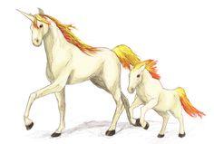 Ponyta and Rapidash by RtRadke.deviantart.com on @DeviantArt