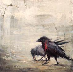 Badass crow by Lindsey Kustusch