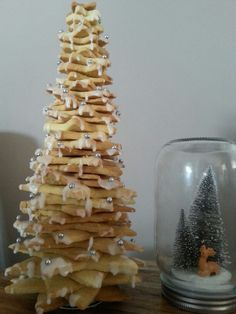 Christmas cookie trees, looks beautiful and it took my darling daughter all day to make love her xx #christmas