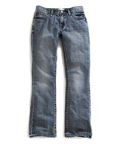 Blue Triple-Needle Loop Jeans - Men's Regular