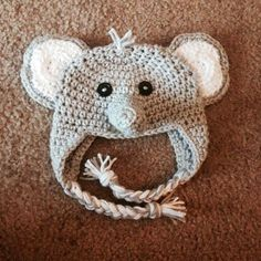 The View From My Hook: Free Pattern Friday: Ferdinand the Elephant Hat (Newborn)