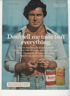 Items similar to 1978 Advertisement Winston Cigarettes Smoking Gold Red Tobacciana Handsome Man Rugged Filters Collecting Room Wall Art Decor on Etsy Retro Advertising, Vintage Advertisements, Vintage Ads, Vintage Photos, Vintage Style, Winston Red, Vintage Cigarette Ads, Winston Cigarettes, Vape Art