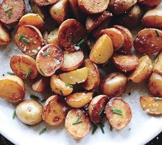 potatoes in vinegar seasons them from within, and a final drizzle boosts the flavor.
