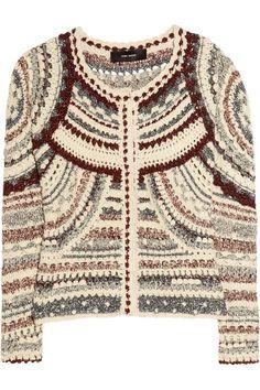Isabel Marant|Weston crochet-knit jacket|NET-A-PORTER.COM | ♦F&I♦