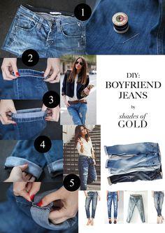 Cosmopolitan   Jeans   Fashion   DIY: Boyfriend Jeans