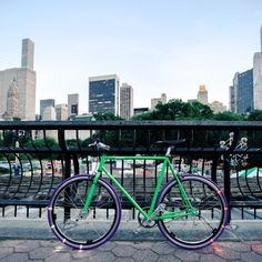 Cover the grounds of Central Park on a stylish YOTEL bike equipped with Revolights!