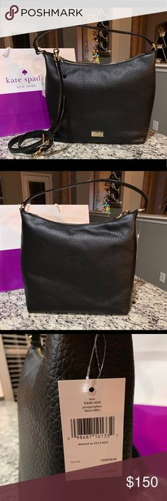 d43f6d6010fe NWT Authentic Kate Spade Kaia leather Bag NWT Authentic Kate Spade Black leather  Bag Kaia prospect