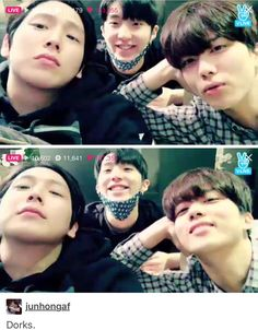 Look at these pabos!! They are absolutely adorable!  #bap #bapfunny #funnybap #himchan #kimhimchan #youngjae #yooyoungjae #jongup #moonjongup #kpop #babyz #kpopfunny #funnykpop