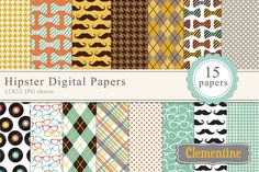 Check out Hipster digital papers by Clementine Digitals on Creative Market