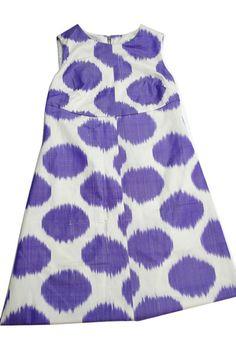 Sale The Harrison Dress - Purple Dot Ikat by Jules Reid
