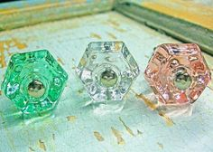Shabby Chic Glass Knobs