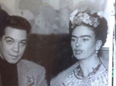 """Frida Kahlo y Mario Moreno """"Cantinflas""""."""