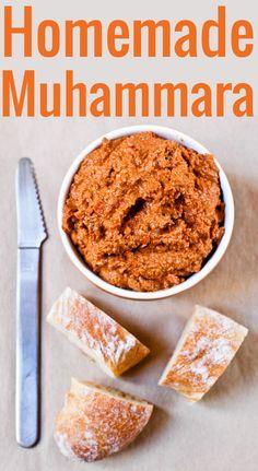 Muhammara (Roasted Bell Pepper Spread with Walnuts and Cashews) Recipe | Chocolate & Zucchini