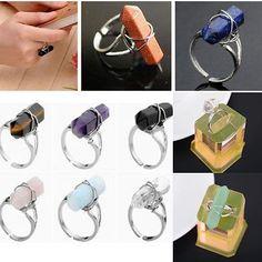 Silber Hexagon Edelstein Kristall Fingerring Einstellbar Ring Special Schmuck in Uhren & Schmuck, Modeschmuck, Ringe | eBay