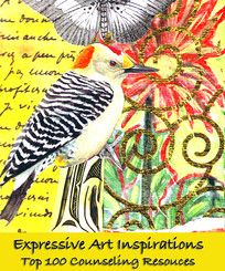 Expressive Art Inspirations ....top 100 counseling resources.