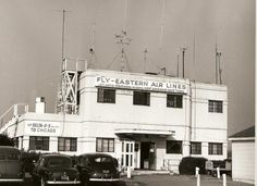 Greenville [SC] Municipal Airport's first terminal. (Courtesy of Greenville County Historical Society, Greenville, SC / Courtesy of Joe Jordan Photography)