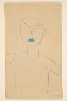 "Constantin Brancusi  (French (born Romania), Hobita 1876–1957 Paris) Study for the Sculpture ""The First Step"""