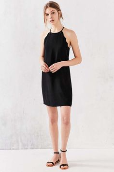 Cooperative High Neck Scallop Frock Dress - Urban Outfitters