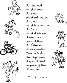 worksheets grade r south africa - Google Search Classroom Layout, Classroom Rules, Rhymes Songs, Kids Songs, Preschool Learning, Preschool Activities, Afrikaans Language, Baie Dankie, Verse
