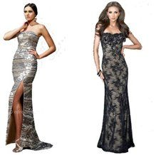 elegant long dresses - perfect for a christmas party