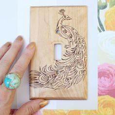 Gina Michele: DIY Wood Burned Switch Plate