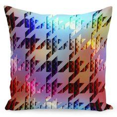 Originálna farebná obliečka na vankúš s moderným motívom Throw Pillows, Bed, Toss Pillows, Cushions, Stream Bed, Decorative Pillows, Beds, Decor Pillows, Scatter Cushions