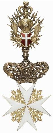Cross of a Bailiff Grand Cross, Knight of Justice or Knight of Honour and Devotion of the Grand Priory of Austria and of the Grand Priory of Bohemia (Großpriorat von Österreich und Großpriorat von Böhmen). #OrderofMalta #SMOM