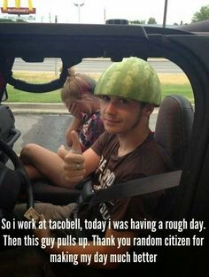 No way! I thought my cousin was the creator of the watermelon helmet!