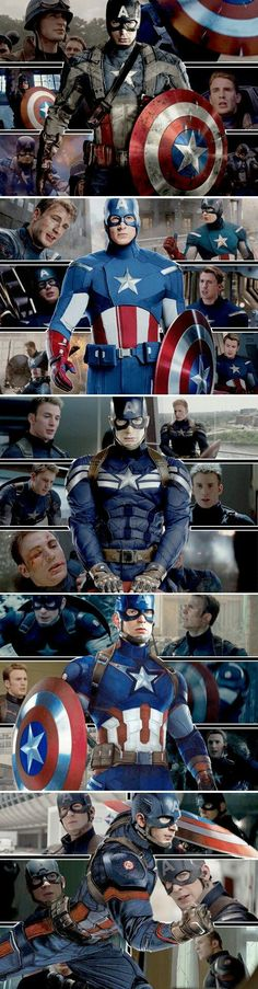 Chris ❤️ Evans: Captain America through the years // I really want to know what the costume designers were thinking when they decided on the first Avengers suit. All the other suits are amazing. Marvel Comics, Marvel Dc, Marvel Heroes, Steve Rogers, Capitan America Chris Evans, Chris Evans Captain America, Age Of Ultron, Peggy Carter, Captain America Suit