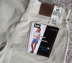 Lee Relaxed Fit  Womens Shorts Size 12 L Almond NWT msrp $26 Cotton Blend #Lee #Denim