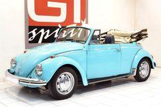 1970 Sea Blue 1302 VW Beetle Cabriolet.