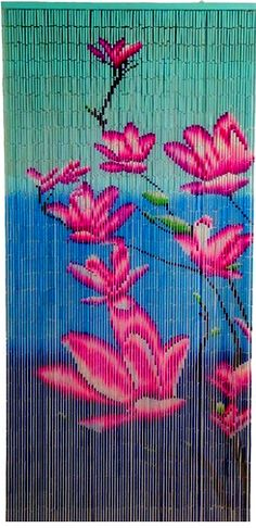 Bamboo Painted Beaded Curtain