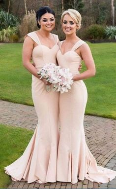 Bridesmaid Dresses,Long Mermaid Bridesmaid Dresses,Satin Bridesmaid Dresses,Bridesmaid Dresses Plus Size,Sexy Wedding Party Gowns