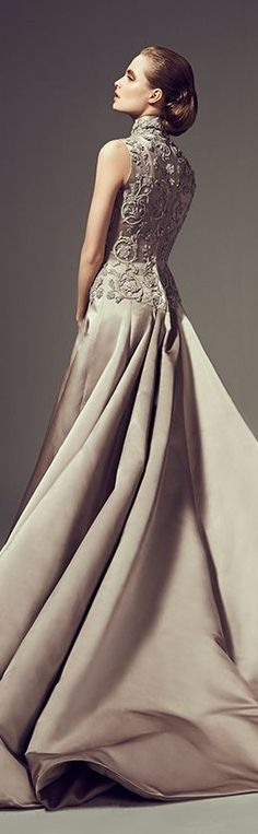 The Gown Boutique / Glamour Evening Gown / karen cox. Saudi fashion designer Mohammed Ashi