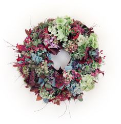 dried hydrangea,rose hips,sedum and leaves Autumn Wreaths, Christmas Wreaths, Christmas Decorations, Funeral Flowers, Wedding Flowers, Order Flowers Online, Spring Bulbs, Seed Pods, Flower Delivery