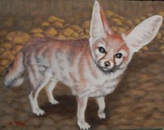 FENNEC FOX original oil painting of Wiley at Critter Camp Animals Rescue #Realism