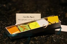 Fused Glass Magnets Citron Set of 5 by JMFusions on Etsy