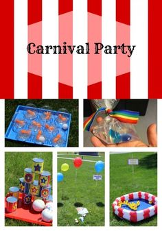 Carnival party ideas with creative, never before seen takes on classic games. Ideas for booths, food, and favors & prizes!