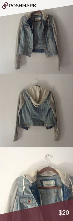 Sonoma Sweatshirt/Jean Jacket Hooded Sweatshirt/Jean Jacket Combo. Excellent condition. Sonoma Jackets & Coats Jean Jackets