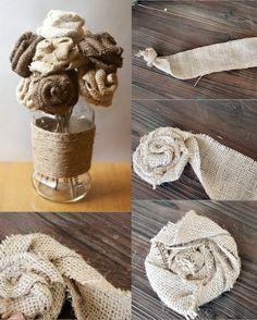 Moldes fare tessiture: Como Fazer Rosas de Juta